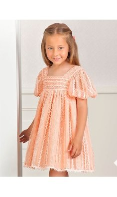 Abel & Lula lace dress salmon