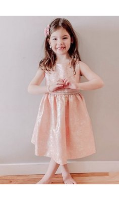 Bonnie Jean jaquard dress peach