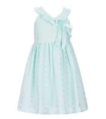 Bonnie Jean eyelet dress mint
