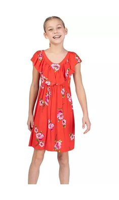 Bonnie Jean crepe zomerjurkje rood