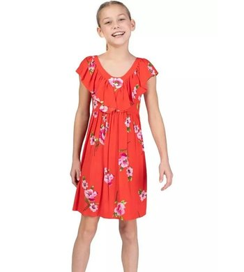 Bonnie Jean crepe summerdress red