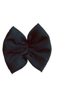 Party haarspeldje strikje zwart