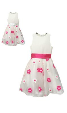 Meisjesfeest Limited Edition dress fuchsia flower