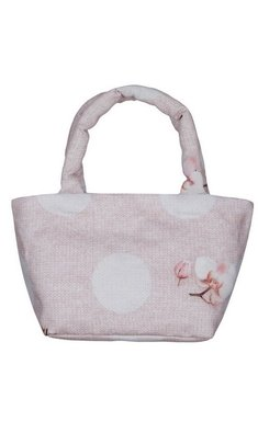 Lapin House handbag with flower pink