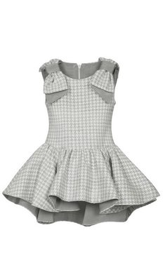 Lapin House dress hi-low checkered grey
