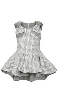 Lapin House jurk geruit grijs/offwhite