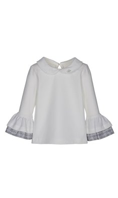 Lapin House top with ruffle sleeves offwhite