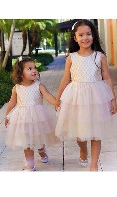 Bonnie Jean Elize dress tulle skirt pink