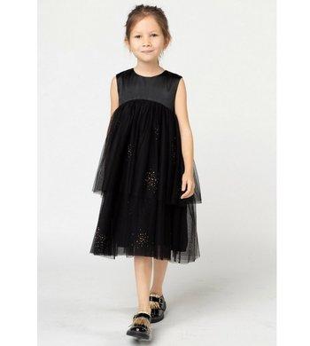 Billlieblush empire jurkje rosegouden glitters zwart