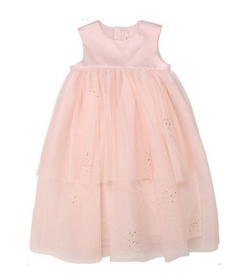 Billlieblush empire dress rose gold glitter pink
