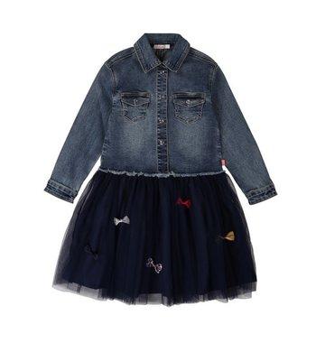 Billlieblush jeansjurk met tule rok blue