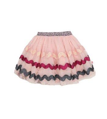 Billlieblush mesh skirt glitter zigzag pink