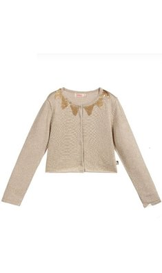 Billlieblush cardigan with sequins gold