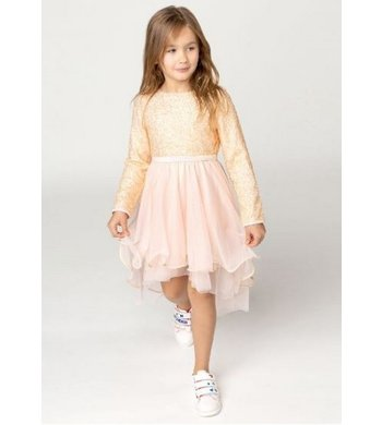 Billlieblush party dress hi-low peach pink