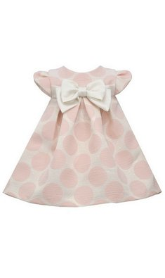 Bonnie Jean Dottie polka dot dress pink
