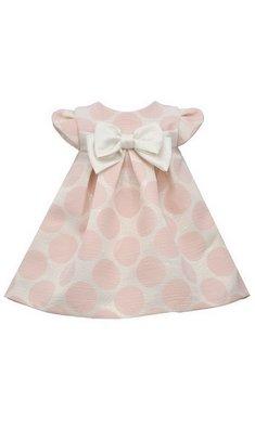 Bonnie Jean Dottie polka dot dress pink
