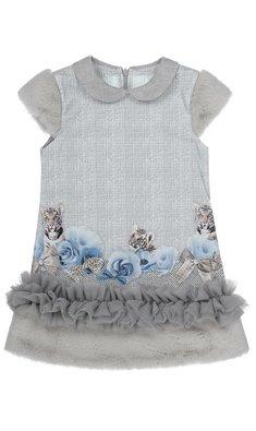 Lapin House jurk met tijger grijs