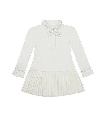Lapin House dress with pleats ivory