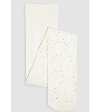 Abel & Lula tight ivory with golden dots