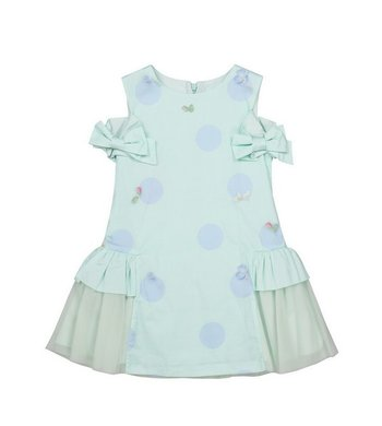 Lapin House dress dots and flowers mint