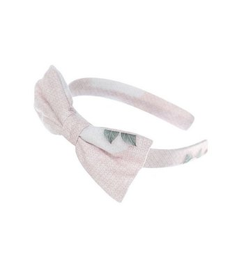 Lapin House headband with bow pink