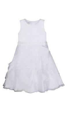 Bonnie Jean jurk bruidsmeisje wit (plus size)