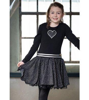 LoFff dress dance with me black dot small