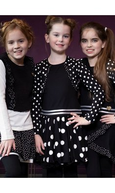 LoFff dress bolero black dot