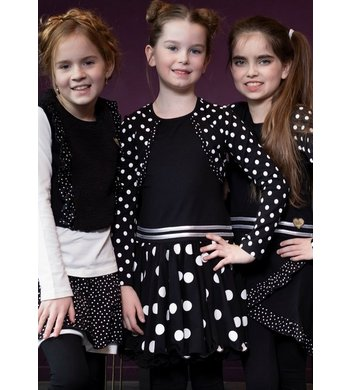 LoFff dress bolero black dot
