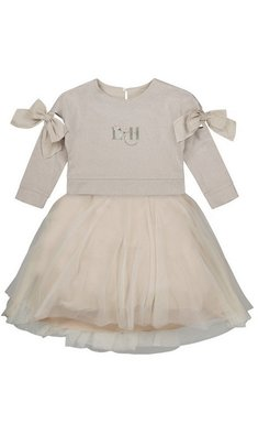 Lapin House dress two piece set beige