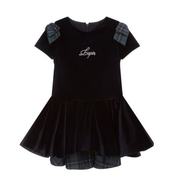 Lapin House dress blue velvet