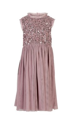 Creamie dress sequins deauville mauve