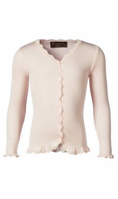 Rosemunde soft cardigan with lace soft rose