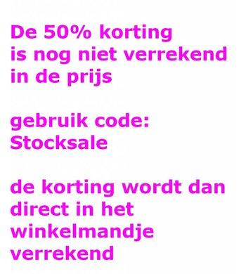 Gebruik code: Stocksale