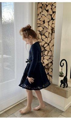LoFff dress lace dark blue