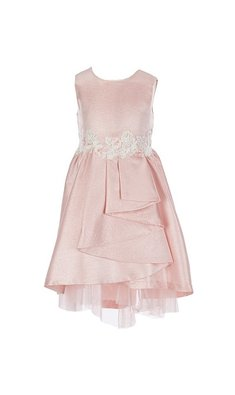 Bonnie Jean cascade party dress pink