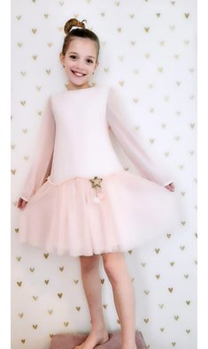 Billlieblush jurk mesh roze (.)