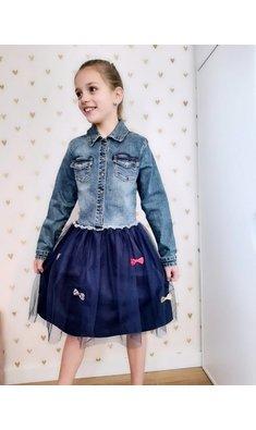 Billlieblush jeansjurk met tule rok blue (.)