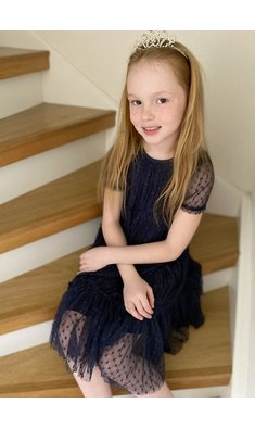 Creamie jurk tule total eclipse donkerblauw (.)