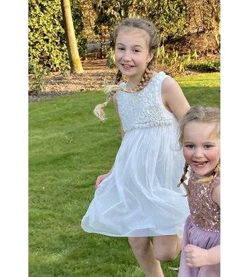 Derhy Kids Idaline dress flowers white