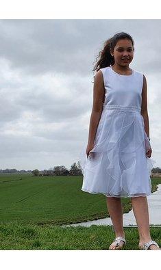 Bonnie Jean jurk bruidsmeisje wit (plus size) (.)