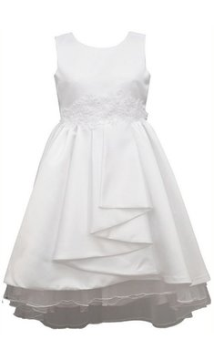 Bonnie Jean dress pleated front communion white