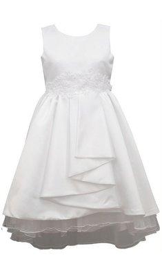 Bonnie Jean dress pleated front communion white