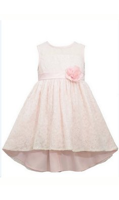 Bonnie Jean sequin lace dress pink
