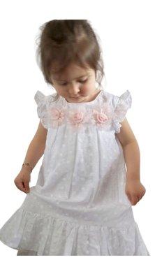 Bonnie Jean A-lijn broderie jurkje wit (.)
