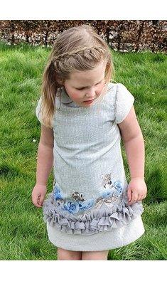 Lapin House jurk met tijger grijs (.)