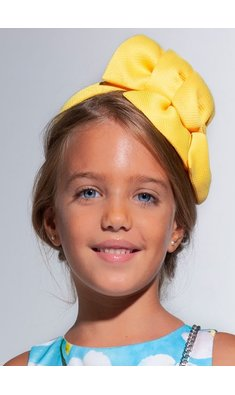 Abel & Lula headband double loup yellow