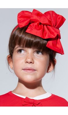 Abel & Lula headband double loup red