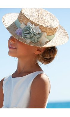 Abel & Lula hat for girl blue
