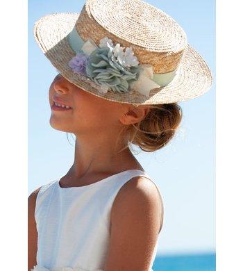 Abel & Lula hat for girl blue